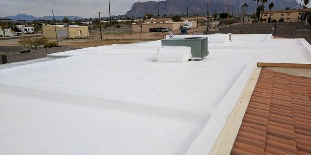 Elastomeric Roof Coating Project in Photos | The Roof Medics