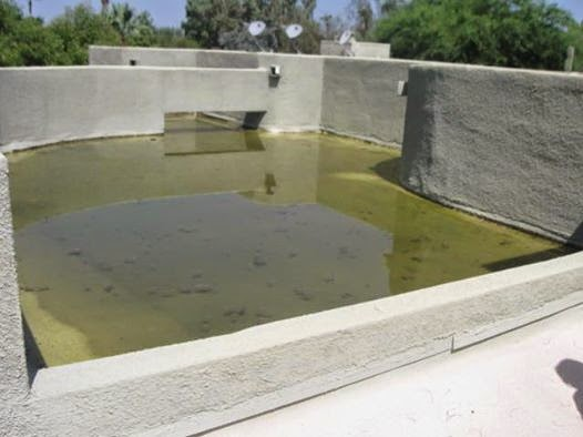 Flat Roof Water Ponding